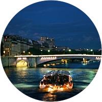 Night Cruise on the Seine River