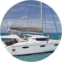 A day of sailing on a catamaran