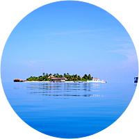 Stay in a beach hut on Maldives