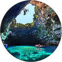Melissani Lake & Drogarati Cave Boat Tour
