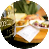 Wine break at La Prosciutteria