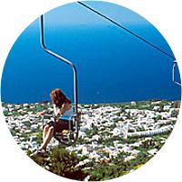 Chair lift on Monte Solaro