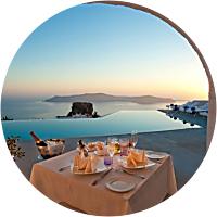 Romantic Night Out in Santorini (Argo Restaurant)