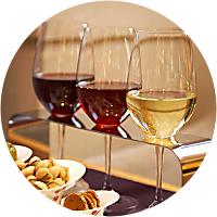 wine flight with dinner