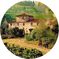 Horseback Riding at an Italian Villa