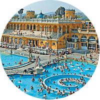 Enjoy a soak in the Széchenyi Baths