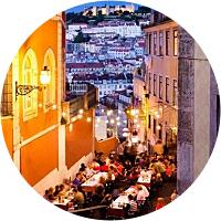 Romantic dinner in Lisbon