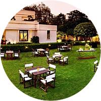 Verandah dinner in Delhi