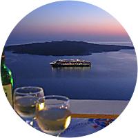 Romantic dinner in Fira
