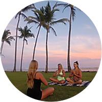 Private Yoga lesson on the beach