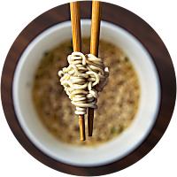 Eating Japanese Ramen