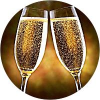 Welcome bottle of champange