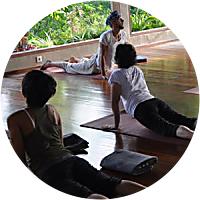 Yoga at the Famous Yoga Barn in Ubud