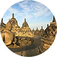 Contemplating Borobudur in Indonesia