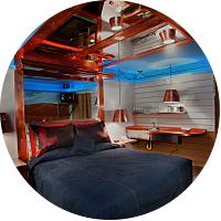 Ungrade to a night in the 'No Tell Room' in our Farmer's Daughter Hotel, LA
