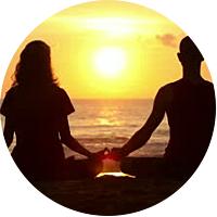 Sunset Yoga Class on the Beach