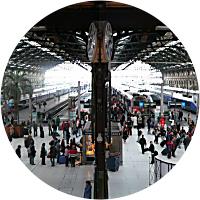 Two Roundtrip Train Tickets (Paris to Nice)