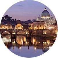 Illuminated Rome with Dinner