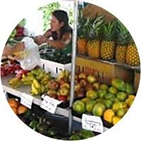 Fresh Fruit at the Kona Farmers Market