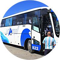 Bus ride to Havana