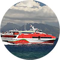 Ferry from Tahiti to Moorea