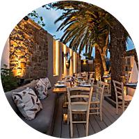 Dinner at one of Mykonos best restaurants