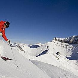 Snow Skiing at Lake Louise