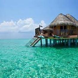 Overwater villa in the Maldives