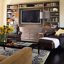 Materials for media built-in (family room)