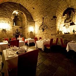 Dinner at The Dungeon Restaurant of Dalhousie Castle