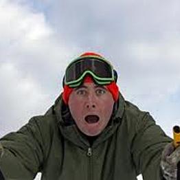 Ski lesson for Chris