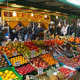 Fresh fruit and vegetables at the Portobello Street Market