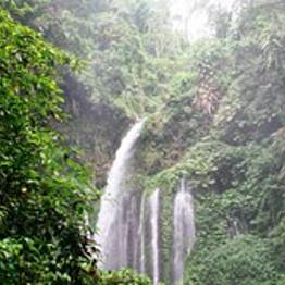 The Sendang Gile Waterfalls