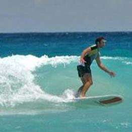 Surfing in Puhket, Thailand