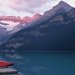 Canoe Across Lake Louise