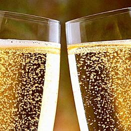 Champange. Cheers!