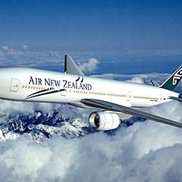 Flight from Queenstown, New Zealand to Aukland, New Zealand