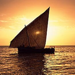 Sailing on a 'Ngalawa' boat