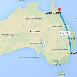 Airfare - Sydney, Australia to Cairns, Australia