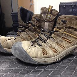 Nerdy hiking shoes