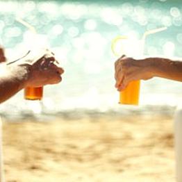 Drinks by the pool/ocean/body of water