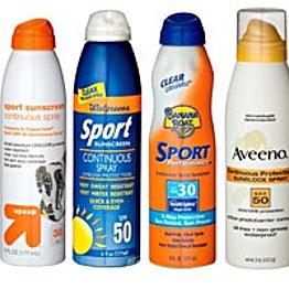 LOTS of sunscreen for John