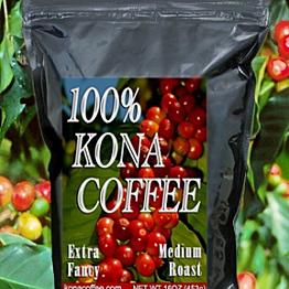 Kona coffee with cream and sugar