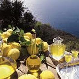 A bottle of Capri's world-famous limoncello