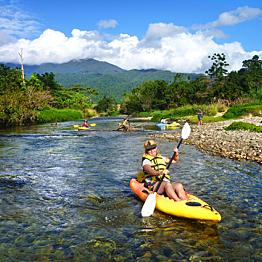 Kayaking Babinda Creek