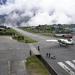 Day 3: Flight from Kathmandu (4,600 ft) to Lukla (9,317 ft). Trek  Lukla to Phakding (8,661)