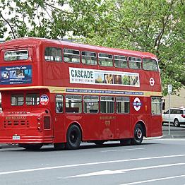 A double decker bus tour