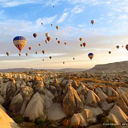 Sunrise hot air balloon ride in Cappadocia
