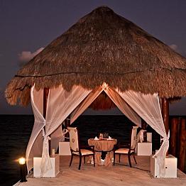 Honeymoon Dinner on Pier
