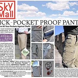 Pick Pocket Proof Travel Pants